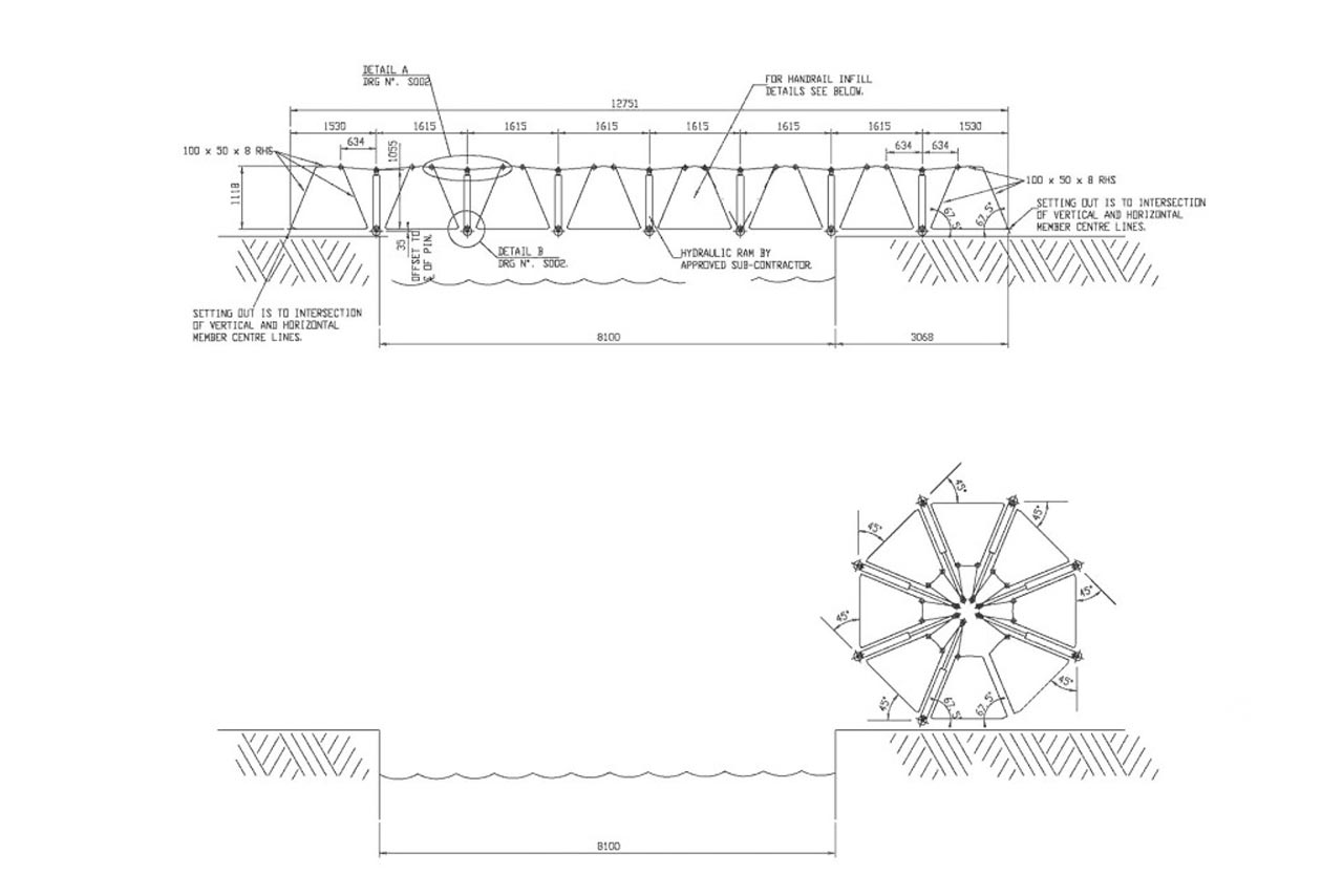 Thomas Heatherwick Rolling Bridge Littlehampton Welding Ltd Hydraulic Ram Diagram The Was Completed In 2004 And Has Won A Structural Steel Award Among Others